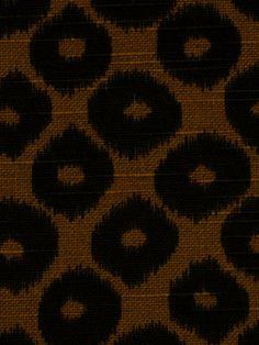 Ikat Upholstery Fabric Black Modern Ikat by the yard