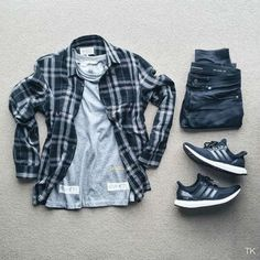 Pin by howard norris on men stuff styles de mode pour hommes Casual Wear, Casual Outfits, Men Casual, Casual Styles, Flannel Outfits, Plaid Flannel, Flannel Shirt, Mode Chic, Mode Style