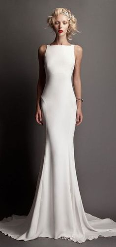 5 Awesome Wedding Dress Styles to Consider Your Unique Body Type We've all heard the hype a million times about how your wedding day is the most important day of your life. Here's a great starting point, with the five basic wedding dress styles: Wedding Dress Necklines, Wedding Dress Styles, Bridal Dresses, Wedding Gowns, Sheath Wedding Dresses, Bateau Wedding Dress, Wedding Cake, Wedding Venues, Wedding Rings