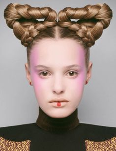 Futuristic Hair Editorials - Harper's Bazaar UK's Beauty Queen's Story Boasts Braided Hairstyles (GALLERY)