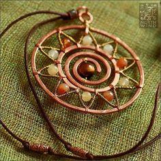 ☮ American Hippie Bohemian Style ~ Boho Jewelry . . Sun Mandala pendant