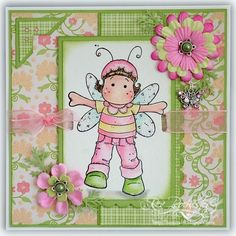 Dragonfly Tilda from Chasing Butterflies collection, Magnolia stamps