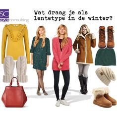 Wat draag je als lentetype in de winter? by roorda on Polyvore featuring Mode, UGG, Sam Edelman, Mint Velvet and Volant