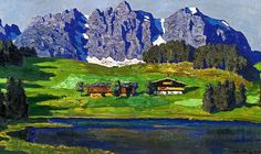 """Alfons Walde/ """"Berghof am Wilden Kaiser"""""""
