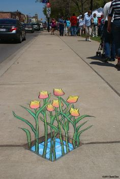Friday Fun Challenge (FOR EXCELLENT CLASSROOM BEHAVIOR ONLY!) 3D Street Art! (Maybe on Sidewalk in front of school?)