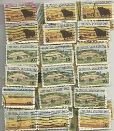 #1504 -8¢ Full Set Rural America # 1504 - 1506 x 100 Used US Stamps of  =100