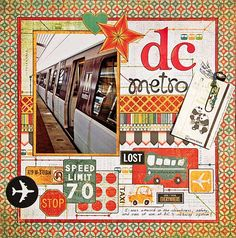 #papercraft #scrapbook #layout  DC Metro    fun idea for Boston subway pics