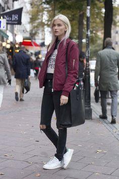 29d0eb84 Elsa Ekman wearing Best Bomber by JUNKYARD XX-XY. Modern Hipster, Outfits  2016