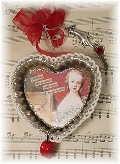 Heart tart tin by Lynn Stevens