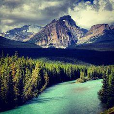 Bow River Parkway.  Banff Alberta.