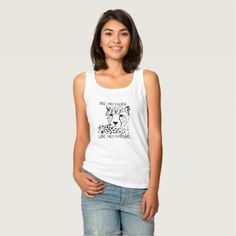 Ladies safari Tank top - cat cats kitten kitty pet love pussy