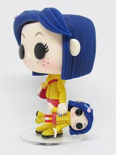 Funko Pop Dolls, Funko Pop Figures, Vinyl Figures, Coraline Doll, Coraline Jones, Coraline Characters, Custom Funko Pop, Pop Toys, Cute Clay
