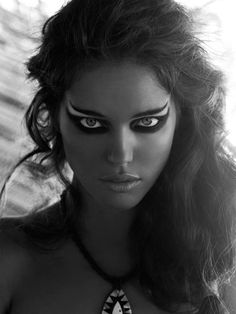 Beauty editorial featuring model Emily DiDonato.