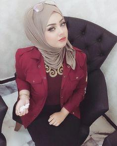 Hijab Fashion Summer, Muslim Fashion, Arab Girls Hijab, Muslim Girls, Beautiful Muslim Women, Beautiful Hijab, Hijabi Girl, Girl Hijab, Iraqi Women