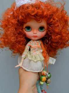 OOAK Blythe doll Alice unique custom Blythe doll by malinkaartz