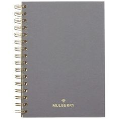 Mulberry A6 Notebook Ruled Paper found on Polyvore featuring home, home decor, stationery and white