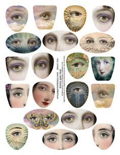 PaperWhimsy :: Collage Images Print or PDF :: Beautiful Faces :: Sheet 314