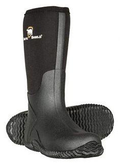 ArcticShield Men's Waterproof Durable Insulated Rubber Neoprene Outdoor Boots Best Waterproof Boots, Neoprene Rubber, Hunting Gear, Black Rubber, Hunter Boots, A Good Man, Black Boots, Insulation, Rubber Rain Boots