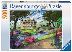 Visiting the Mansion - 500 Piece Jigsaw Puzzle