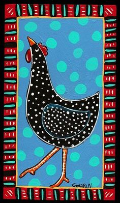 Morning Rooster Painting, Rooster Art, Tole Painting, Folk Art Paintings, Chicken Painting, Chicken Art, Farm Art, Cow Art, Mexican Folk Art