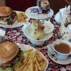 """A slightly unconventional afternoon tea #penang #tea #burger #foodporn"""