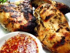 Thai-Style Grilled Chicken W/ Spicy Sweet and Sour Dipping Sauce