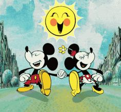 Disney's Mickey & Minnie:) Disney Cartoon Characters, Mickey Mouse Cartoon, Mickey Mouse And Friends, Mickey Minnie Mouse, Disney Cartoons, Walt Disney, Disney Love, Animiertes Gif, Animated Gif