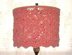 Macrame Drum Lamp Shade by craft2joy on Etsy, $65.00