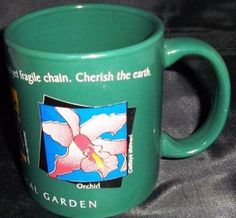 Cleveland Ohio Botanical Gardens Souvenir Collector Mug Butterfly Ant Orchid Na