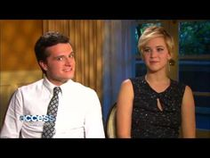 Jennifer Lawrence and Josh Hutcherson - The Hunger Games Catching Fire hilarious interview!!