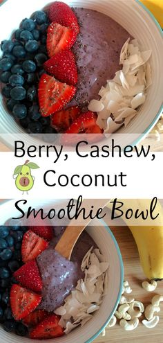 The perfect breakfast on a hot Summer's morning. Coconut Smoothie, Smoothie Bowl, Healthy Weight Gain, Healthy Fats, Healthy Breakfast Recipes, Healthy Recipes, High Fat Foods, Fussy Eaters, Perfect Breakfast