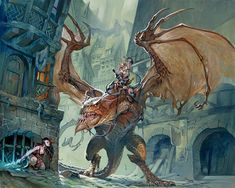 Dungeons and Dragons — Jesper Ejsing Illustration High Fantasy, Fantasy Rpg, Medieval Fantasy, Dungeons And Dragons, Fantasy Dragon, Dragon Art, Fantasy Artwork, Concept Art World, Dragon Rider