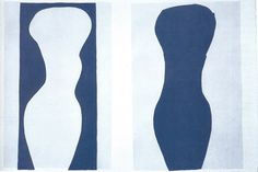 Matisse, FORMS, WHITE TORSO AND BLUE TORSO (JAZZ)  stencil on paper  1943  previous   next  back to thumbnails