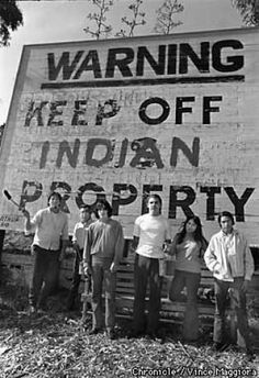 The 19-month American Indian Movement (AIM) occupation of Alcatraz Island in 1969, photo by Vince Maggiora