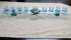 Fused Glass Handmade Colorful Hanukkah Chanukah Menorah Judaica Jewish Art, Gift
