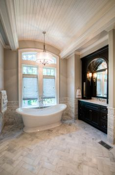 In a house, especially a large house must have a master bathroom. And the master bathroom has a larger size than the other bathrooms. And besides, the master bathroom is designed more elegant and m… Inspiration Design, Bathroom Inspiration, Design Ideas, Dream Bathrooms, Beautiful Bathrooms, Master Bathrooms, Master Bath Remodel, Classic Bathroom, Bathroom Renos