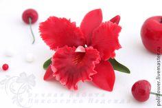 """Заколки ручной работы. Ярмарка Мастеров - ручная работа Зажим с орхидеей """"Luminoso"""".. Handmade."""
