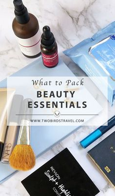 Travel Beauty Essentials to pack onboard by Two Birds Travel