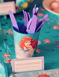 The Little Mermaid Birthday Party - Dinglehoppers and Human Things Check out the website