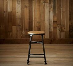 Decker Barstool #potterybarn  Want high ones for snack bar in kitchen.  May craft cushion and long skirt.