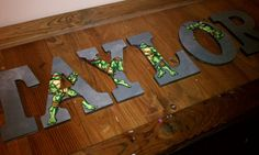 Ninja Turtles  9 Hand Painted Wooden Letters by ArtsyNani on Etsy, $25.00