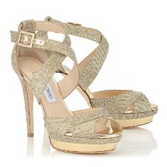 d36c57236def Authentic Jimmy Choo Kuki Glitter Shoes in Gold Brand new. Size Pictures  don t capture the beautiful sparkle. Comes with box and dust bag.