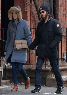 Not long ago: The former couple were last photographed together in January in New York...