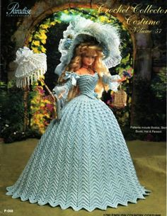 Barbie, Crochet Collector Costume Vol. 57 pattern http://knits4kids.com/collection-en/library/album-view?aid=2186