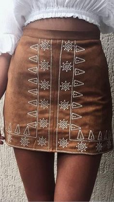 Must-have item to spice up your Wardrobe Collection. featuring A Bohemian Embroidery Skirt to Try Out Now. Shop the Latest Boho Chic Fashion Outfit Inspiration. Shop this look ! Bohemian Mode, Bohemian Style, Boho Chic, Fashion 2017, Look Fashion, Jeans Fashion, Fashion Stores, Skirt Fashion, Fashion Women