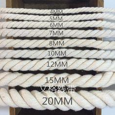 Alibaba グループ | AliExpress.comの パッチコード からの 商品の詳細を必要性のための他の直径,してください連絡。 ミリメートル5.6.7.8.10.12.15.20直径???,,,   中の 3 〜 20 ミリメートル 100%綿手作り アクセサリー threefolded綿ロープ ツイスト装飾ロープ綿ロープ ベージュ