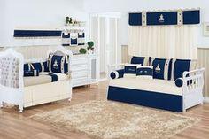O Quarto de Bebê Príncipe Vicenzo Marinho é digno de um príncipe! Essa decoração do quarto de bebê azul marinho é um encanto!