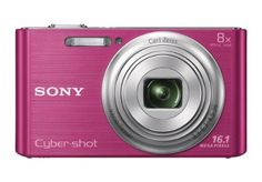 Sony DSC-W730/P 16 MP Digital Camera with 2.7-Inch LCD (Pink) by Sony. $139.99. From the Manufacturer                         Easy made easier.   The amazingly easy-to-use camera that slips right in your pocket.  With an 8x optical zoom, 16.1MP photos and beautifully-detailed HD videos, pics stay clearer, even with shaky hands thanks to Optical SteadyShot™ image stabilization. Enhance your images with built-in effects that adjust skin tone and texture, or even whiten teeth.