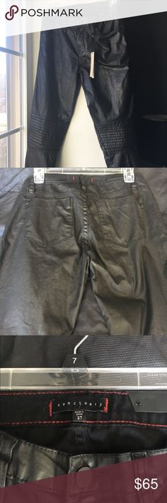 Sanctuary Moto pant Women's black moto ankle pant size 27 98% cotton 2% spandex  Features zip ankle  Slim fit  I didn't find these to be true to size  Best for a taller frame and not a petite one Sanctuary Pants Ankle & Cropped