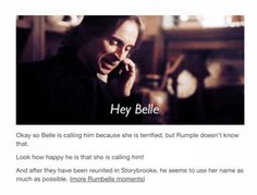 """Rumbelle moments - saying """"Belle"""" a lot"""